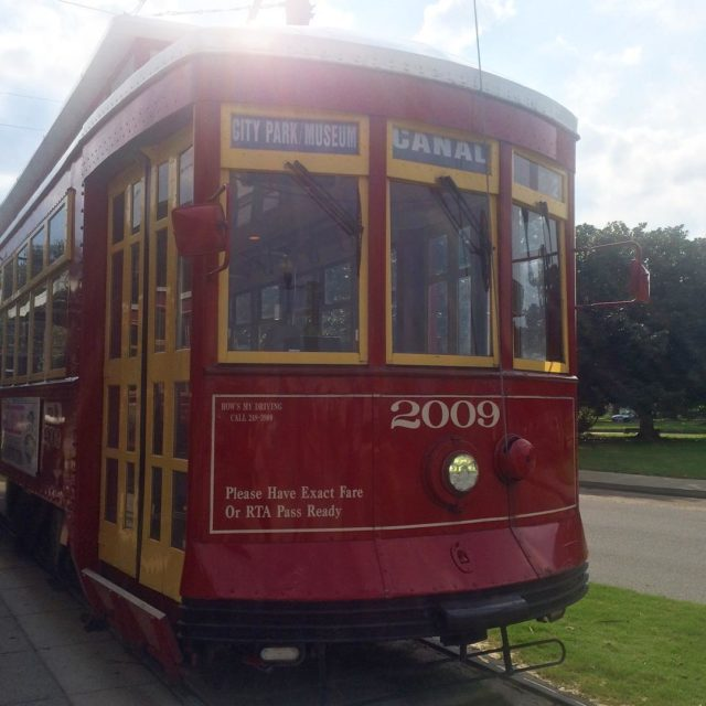 Were just doing that tourist thing today canalstreettrolley NOLA laborday